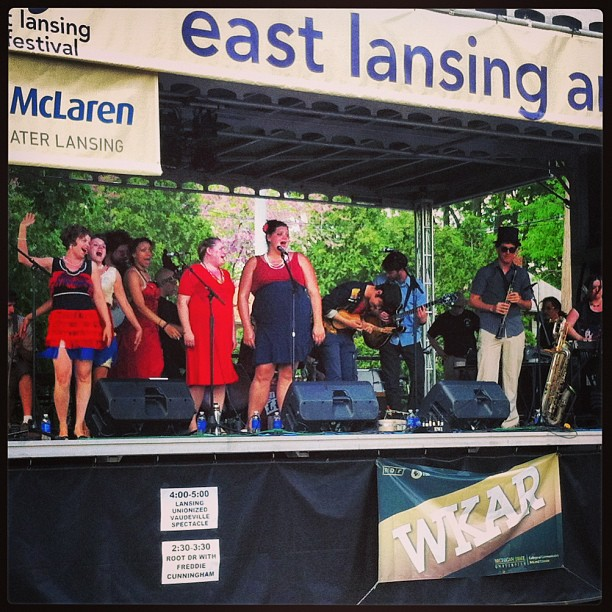 The LUVS @ East Lansing Art Festival, May 2013.  photo cred: Masaki Takahashi